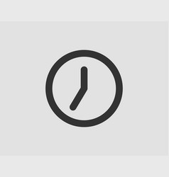 clock icon flat design element watch isolated on vector image