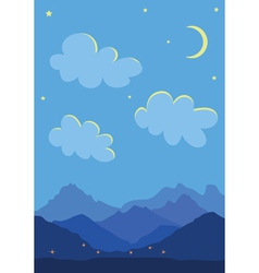 Clouds and mountains vector