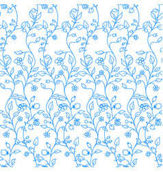 colorful floral background seamless pattern vector image