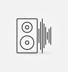 computer speaker with sound wave concept vector image