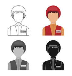 courier icon in cartoon style isolated on white vector image