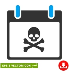 Death Skull Calendar Day Eps Icon vector