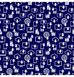 Different devices downloading seamless pattern vector