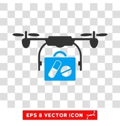 Drone Pharmacy Delivery Eps Icon vector