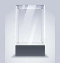 empty glass cabinet vector image
