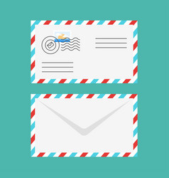 Flat style of postal envelope vector