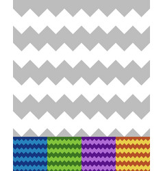 Geometric patterns with zigzag lines seamlessly vector