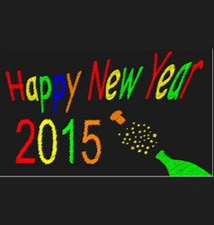 Happy newyear 2015 vector