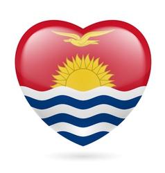 Heart icon of Kiribati vector image