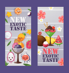 ice cream shop banner summer vector image