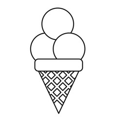 ice cream sweet sundae thin line vector image