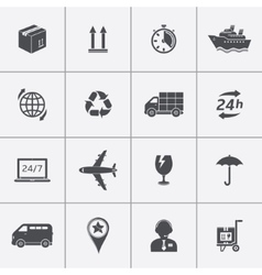 Icons set shipping and delivery vector image