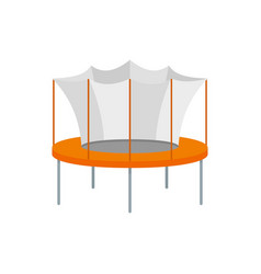 Kid trampoline icon flat style vector