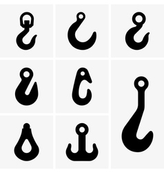 Lifting hooks vector image