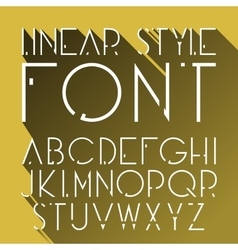 Linear font - simple and minimalistic vector