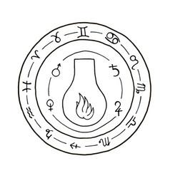 Masonic vial emblem icon logo vector