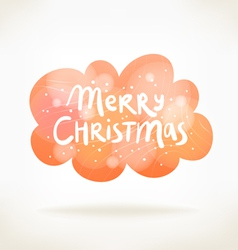 Merry Christmas colorful cloud card vector image