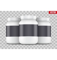 Mock-up Background of Sport Nutrition Container vector