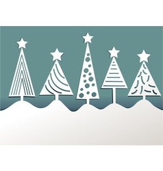 Paper Christmas trees vector