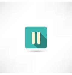 Pause icon vector