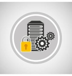 Pc security icon vector