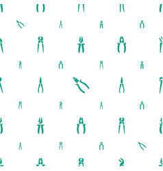 pliers icons pattern seamless white background vector image