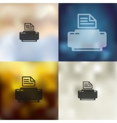 printer icon on blurred background vector image