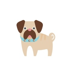 Pug Dog Breed Primitive Cartoon vector