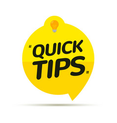 quick tips icon badge top tips advice note icon vector image