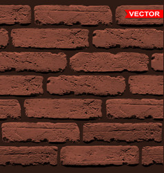 Realistic brown brick wall texture background vector
