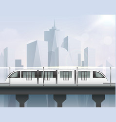 realistic light rail composition vector image