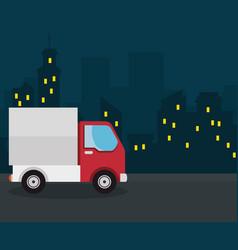 Red truck design vector