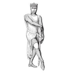 Robert of normandy was a effigy of robert in vector