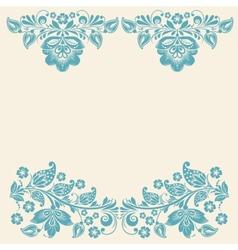 Russian ornaments art frames vector