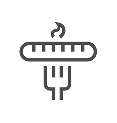 sausage fork icon vector image