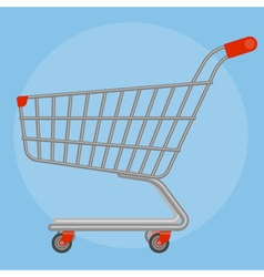 Side view supermarket cart vector image