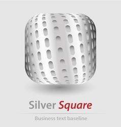 Silver square elegant icon vector image