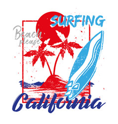 surfing california vector image