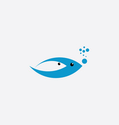 swimming fish symbol sign vector image