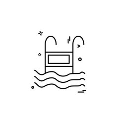 Swimming pool icon design vector