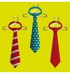 tie isolated design vector image