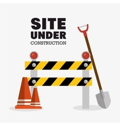 tools site under construction design vector image