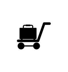trolley for suitcases icon element of travel icon vector image