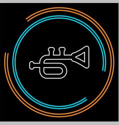 trumpet icon - music instrument - jazz music icon vector image