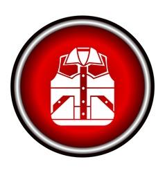 Waistcoat sketch icon vector