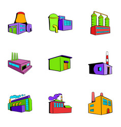 manufacture icons set cartoon style vector image vector image