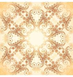 Ornate vintage pattern in mehndi style vector image vector image