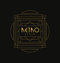 Retro style logo luxury vintage geometric vector