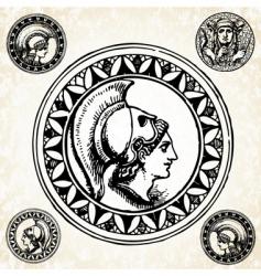 roman soldier seals vector image