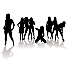 sexy silhouette women vector image vector image